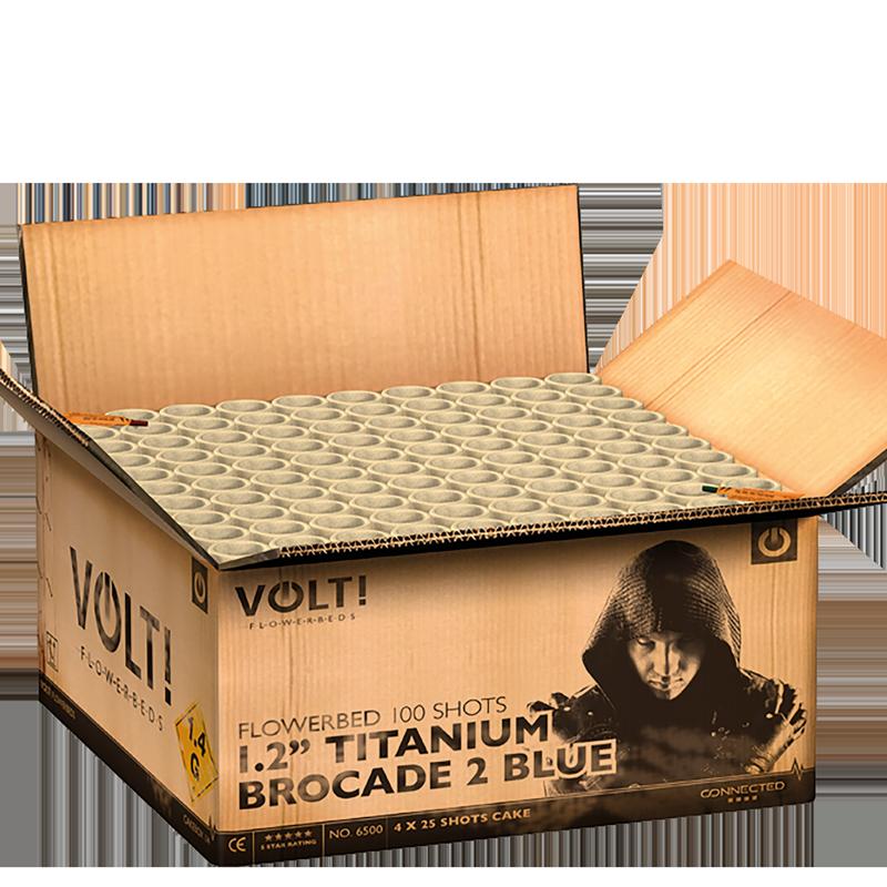 "Volt! - 1.2"" Titanium Brocade 2 Blue (2 kg kruit)"